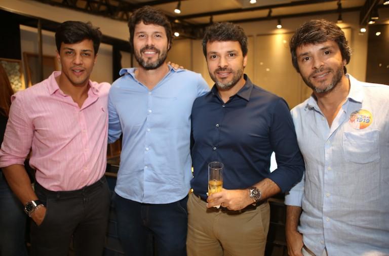 Vitor Lobo, Thiago Martins, Leonardo e Leandro Tomazzi